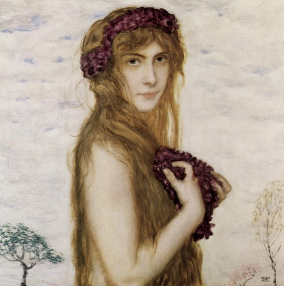 Franz von Stuck Fruehling lente spring 580x585 Androgynie en femme fatale bij Franz von Stuck 